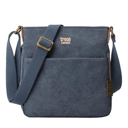 Classic Zip Shoulder Bag - Small Blue