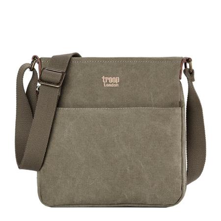 Classic Zip Shoulder Bag - Small Khaki