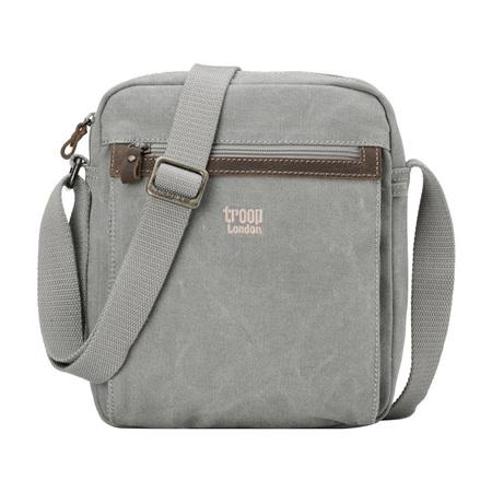 Classic Zip Top Cross Body Bag - Ash Grey