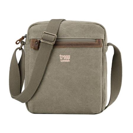Classic Zip Top Cross Body Bag - Khaki
