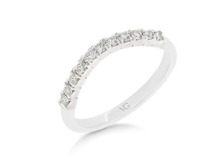 Claw Set Diamond Shaped Wedding Ring