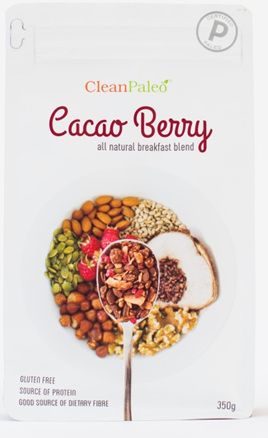 Clean Paleo Cacao Berry Breakfast Blend 350gm