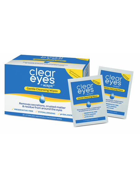Clear Eyes Gntl Cleansing Wipes 30