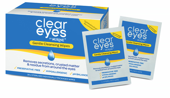 Clear Eyes Gntl Cleansing Wipes 30