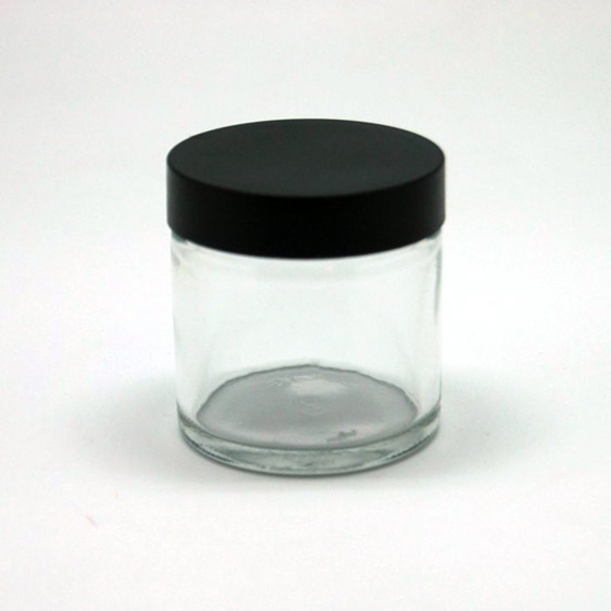 Clear glass cosmetic pot 45gms