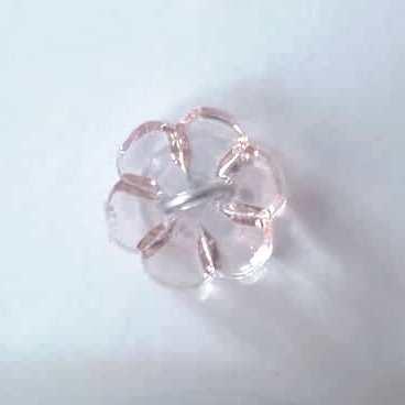 Clear Light Pink Flower Button