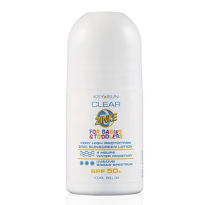 CLEAR ZINKE BABY & TODDLER ROLL ON SPF 50+ 100G