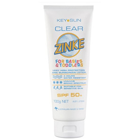 CLEAR ZINKE BABY & TODDLER SPF 50+ 100G