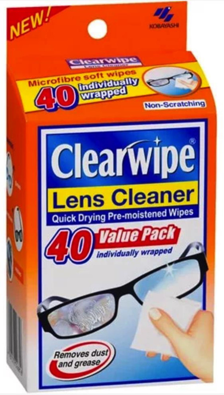 CLEARWIPE LENS CLEANER 40S