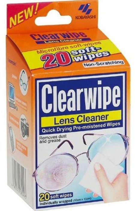 `CLEARWIPE  LENS CLEANER WIPES 20PK