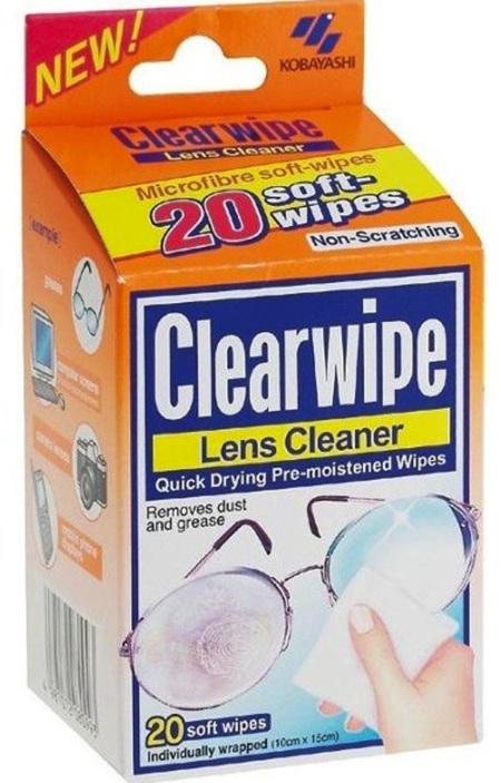 CLEARWIPE  LENS CLEANER WIPES 20PK