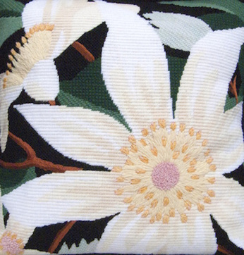 clematis needlepoint