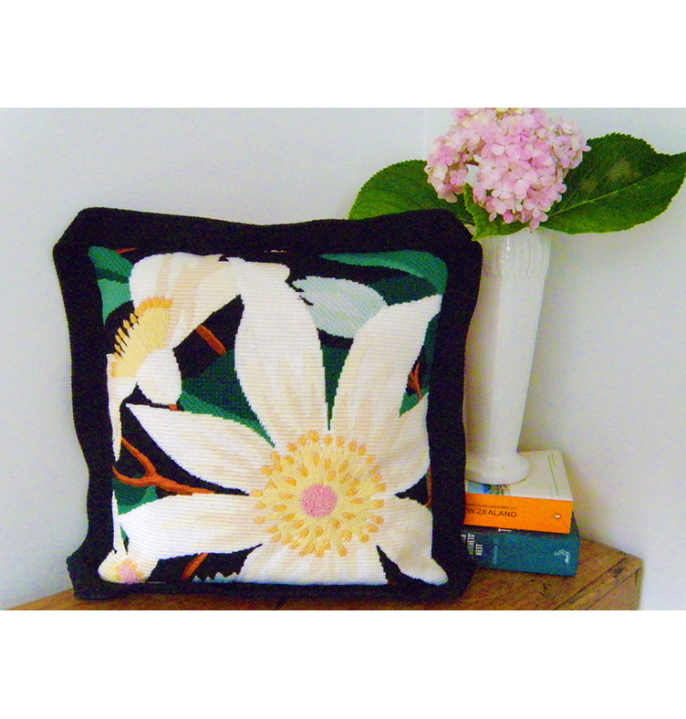 clematis needlepoint kit nz flora tapestry