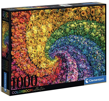 Clementoni 1000 Piece Jigsaw Puzzle: Colour Bloom Series - The Whirl