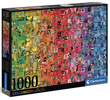 Clementoni 1000 Piece Jigsaw Puzzle: Colour Bloom Series - The Collage