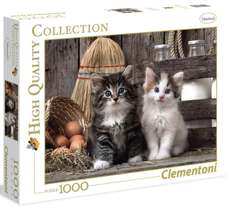 Clementoni 1000 Piece  Jigsaw Puzzle - Lovely Kittens