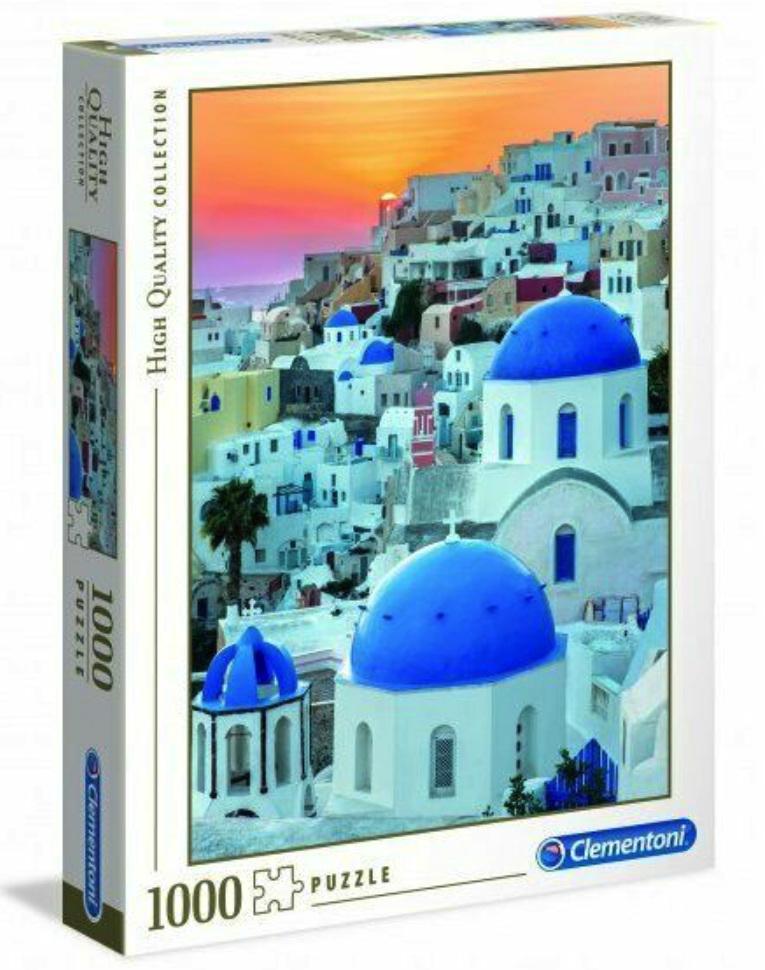 Clementoni 1000 piece jigsaw puzzle Santorini buy at www.puzzlesnz.co.nz