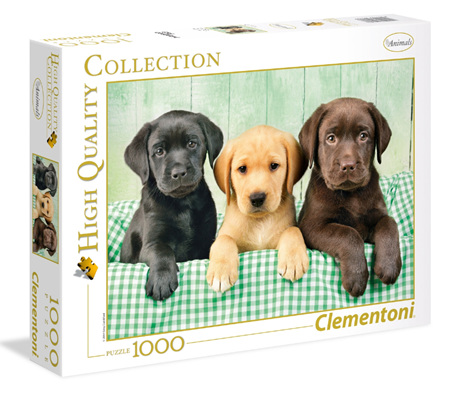 Clementoni 1000 Piece Jigsaw Puzzle: Three Labradors