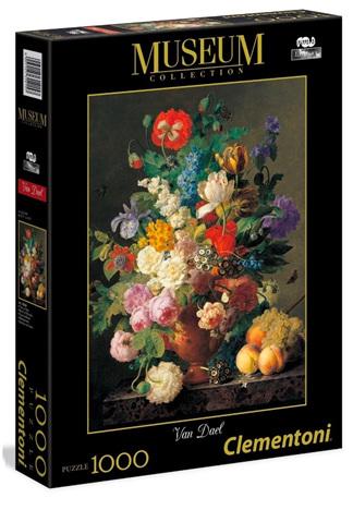 Clementoni 1000 Piece Jigsaw Puzzle: Van Dael Bowl Of Flowers