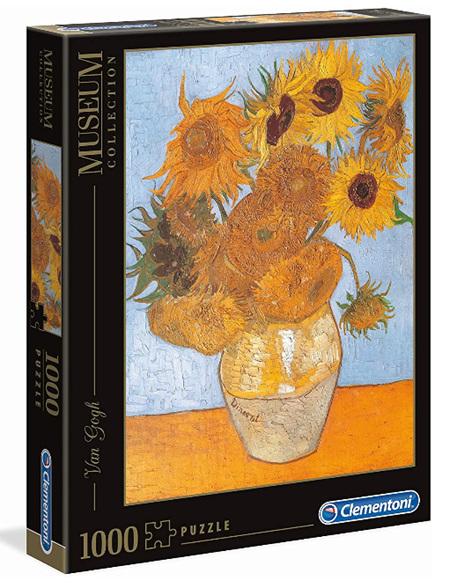 Clementoni 1000 Piece Jigsaw Puzzle: Vann Gogh - Sunflower