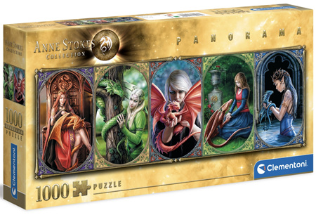 Clementoni 1000 Piece Panorama Jigsaw Puzzle: Anne Stokes Collection