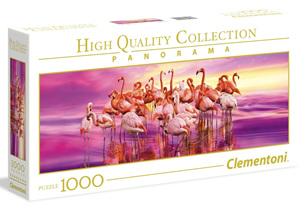 Clementoni 1000 Piece Panorama Jigsaw Puzzle: Flamingo Dance