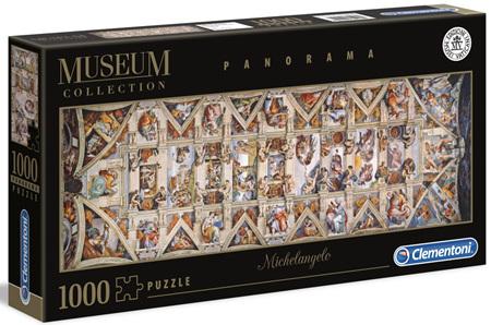 Clementoni 1000 Piece Panorama Jigsaw Puzzle: Sistine Chapel Ceiling