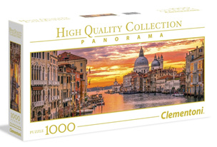 Clementoni 1000 Piece Panorama Jigsaw Puzzle: The Grand Canal Venice