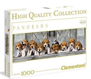 Clementoni 1000 Piece Panorama Puzzle Beagles