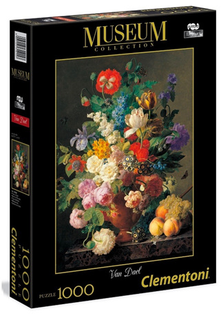 Clementoni 1000 Piece Jigsaw Puzzle: Van Dael Bowl Of Flowers