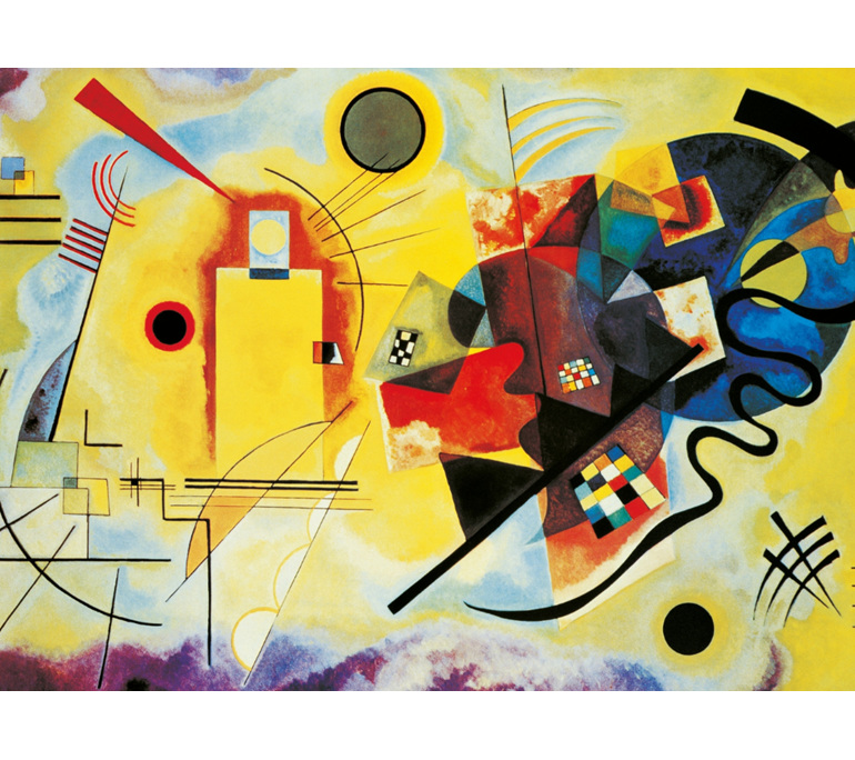 Clementoni 1000 Piece  Puzzle Kandinsky Red & Blue buy at www.puzzlesnz.co.nz