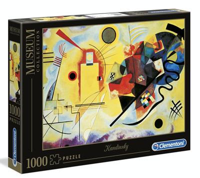 Clementoni 1000 Piece Jigsaw Puzzle: Kandinsky -Red & Blue