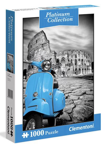 Clementoni 1000 Piece Jigsaw Puzzle: Platinum - Coliseum Rome Italy