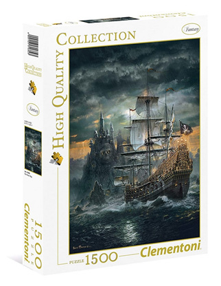 Clementoni 1500 Piece Jigsaw Puzzle: The Pirate Ship