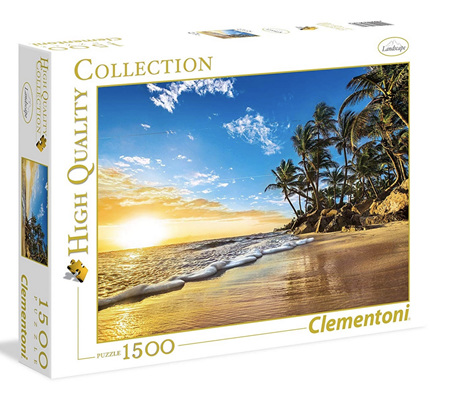 Clementoni 1500 Piece Jigsaw Puzzle: Tropical Sunrise