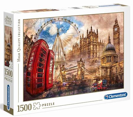 Clementoni 1500 Piece Jigsaw Puzzle: Vintage London
