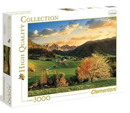 Clementoni 3000 Piece Jigsaw Puzzle: Santa Maddalena Dolomites