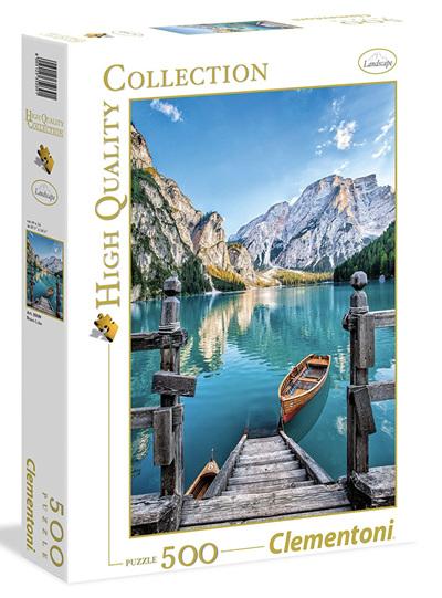 Clementoni 500 Piece Jigsaw Puzzle. Braies lake Italy