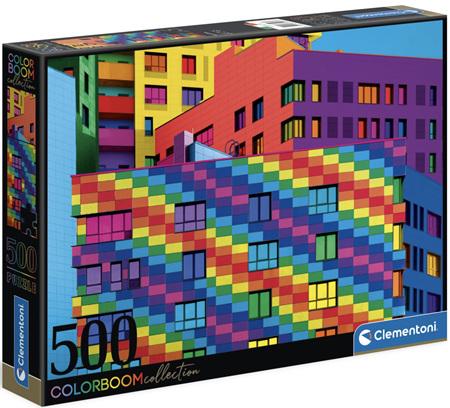 Clementoni 500 Piece Jigsaw Puzzle: Colour Bloom Series - Squares