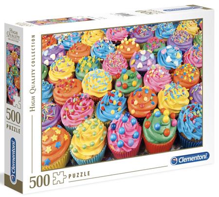 Clementoni 500 Piece Jigsaw Puzzle: Colourful Cupcakes