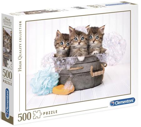 Clementoni 500 Piece Jigsaw Puzzle: Kittens & Soap