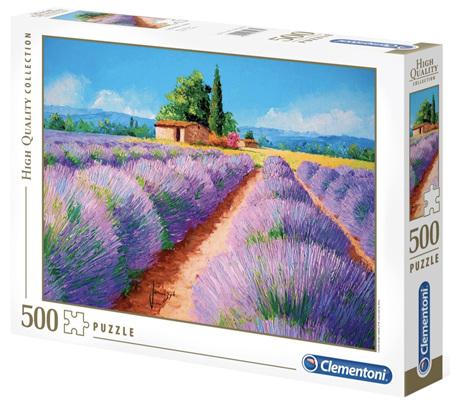 Clementoni 500 Piece Jigsaw Puzzle: Lavender Scent