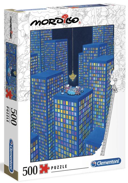 Clementoni 500 Piece Jigsaw Puzzle:  Mordillo - The Dinner