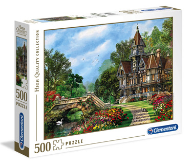 Clementoni 500 Piece Jigsaw Puzzle: Old Waterway Cottage