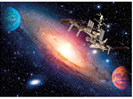 Clementoni 500 Piece Jigsaw Puzzle Space Station buy at www.puzzlesnz.co.nz