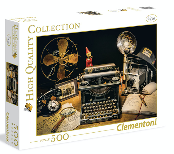 Clementoni 500 Piece Jigsaw Puzzle: The Typewriter buy at www.puzzlesnz.co.nz