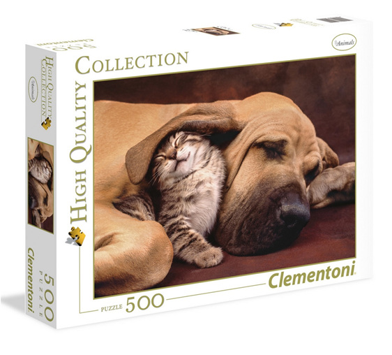 Clementoni 500 piece puzzle Cuddles buy at www.puzzlesnz.co.nz