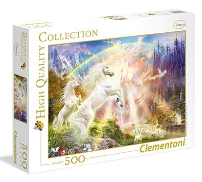 Clementoni 500 Piece Jigsaw Puzzle: Sunset Unicorns
