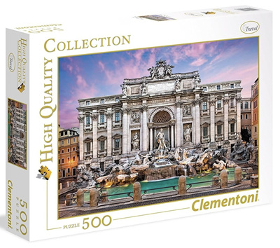 Clementoni 500 Piece Jigsaw Puzzle: Trevi Fountain Rome