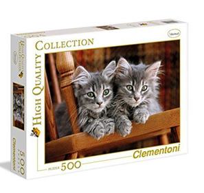 Clementoni 500 Piece Jigsaw Puzzle: Two Grey Kittens